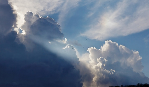 background bright cloud fluffy heaven high landscape