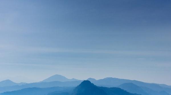 background cloud fog high hill horizontal landscape