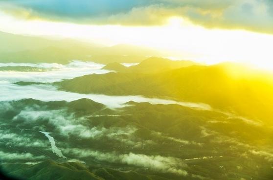 background daytime fog idyllic landscape light