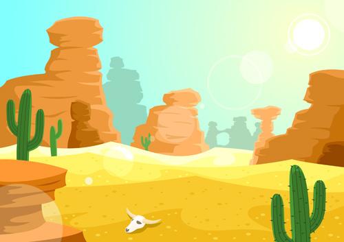 background desert design elements vector