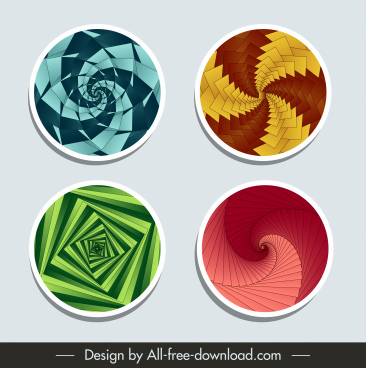 background design elements modern colored illusive twist 3d