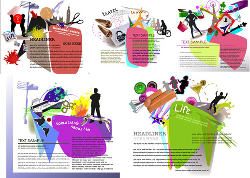 background elements of fashion design elements
