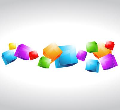 background geometric shapes design elements vector