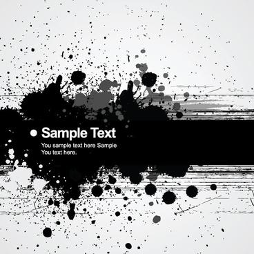 background ink splatter 01 vector