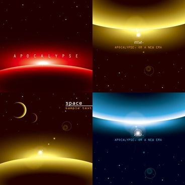 background of three brilliant dynamic effects vector