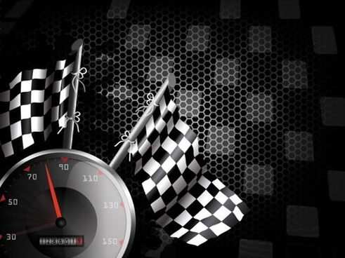 background racing flags vector racing theme