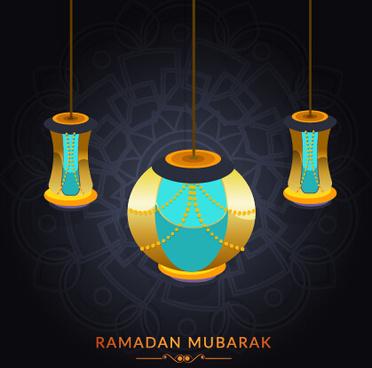 background ramadan mubarak vector design set