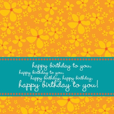 birthday card background yellow petals sketch flat design