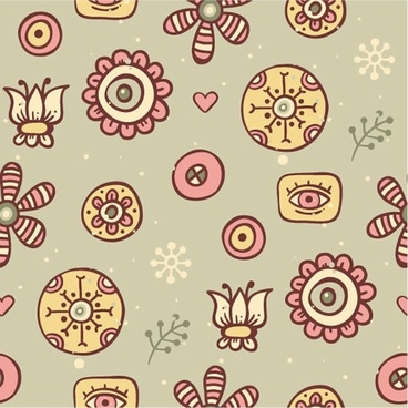 background shading pattern vector cartoon flowers