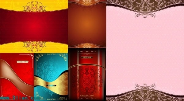 decorative background templates colorful shiny luxury elegant design