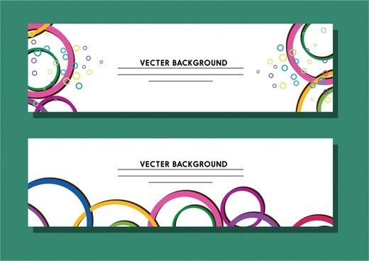background template design with colorful circles