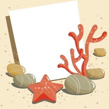 background vector cartoon starfish