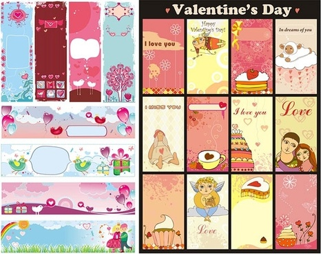 background vector cute valentine day