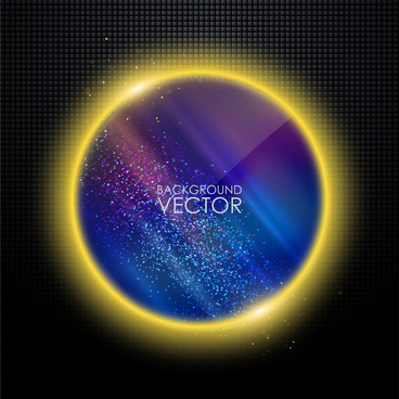 background vector illustration with abstract planet