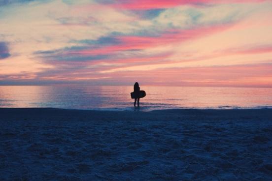 backlit beach coast dawn dusk evening fisherman