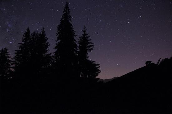 backlit british columbia dark landscape light moon