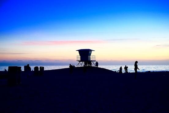 backlit dusk evening exploration fossil fuel