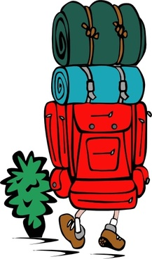 Backpacker Heavy Load clip art