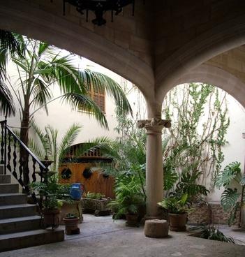 backyard with a vault