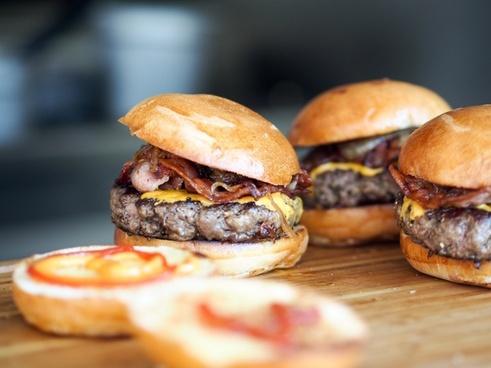 bacon bread breakfast burger cake cheeseburger