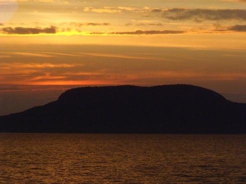 badacsony lake balaton landscape