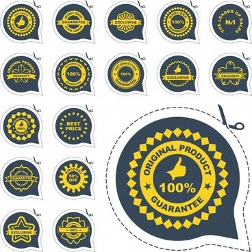 badge labels vector