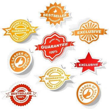 sales badge templates modern paper cut shapes