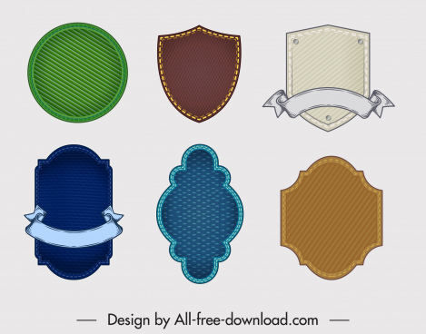 badge templates elegant blank stripes decor
