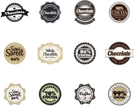 badge with labels vintage styles vector