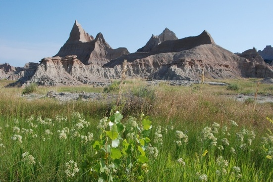 badlands landscape scenery