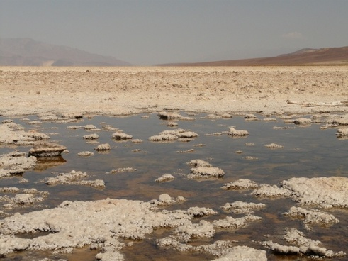 badwater salt pan salt lake