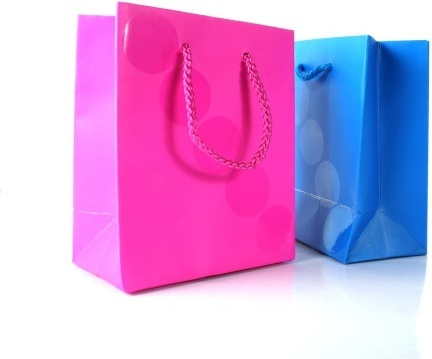 bag red and blue paper bag hd picture