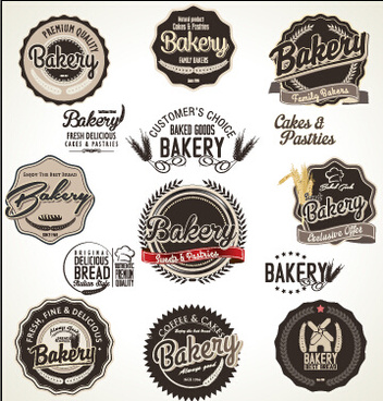 bakery label retro style vector