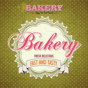 bakery label vintage