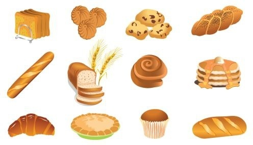 pastry icons collection colored 3d design