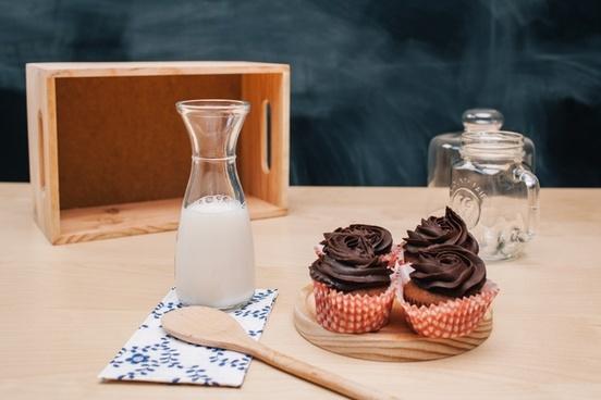 baking breakfast chocolate coffee cream glass