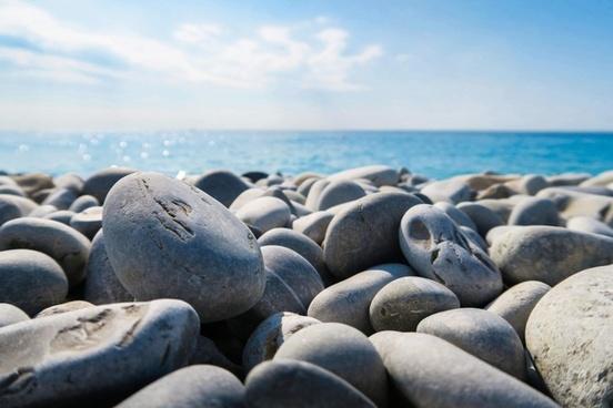 balance beach boulder coast coastline daytime nobody