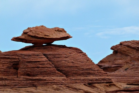 balanced red rock