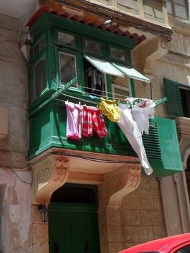 balcony laundry mediterranean