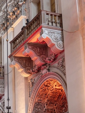 balcony lighting salzburg cathedral