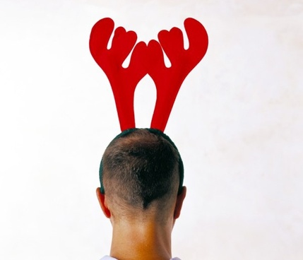 bald head with antlers highdefinition picture