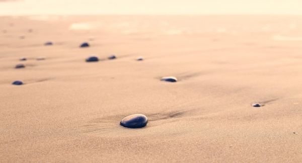 ball beach coast desert footprint heart landscape