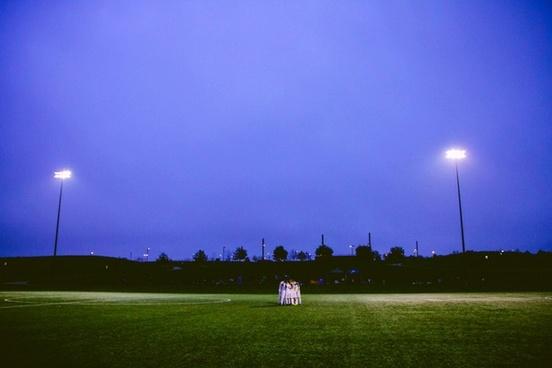 ball city evening field golf grass landscape light