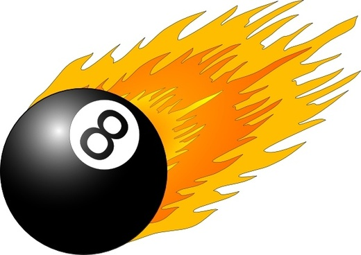 Ball With Flames clip art