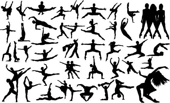 ballet creative silhouettes vector