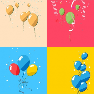 balloon background collection colorful ornament style