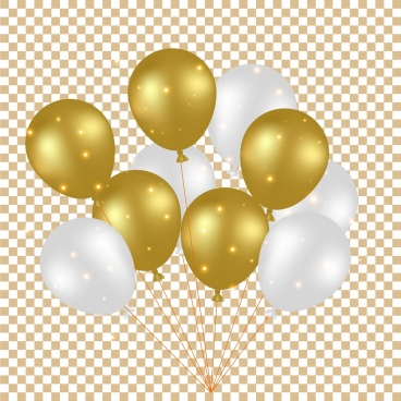 balloon background shiny yellow white decoration checkered backdrop