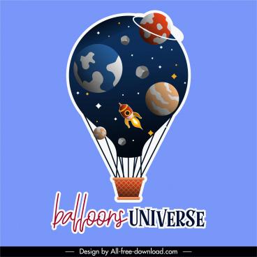 balloon background universe elements decor