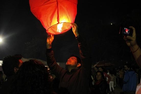 balloon band candle carnival celebration dark