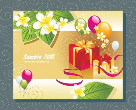 balloon leaves a gift card vector